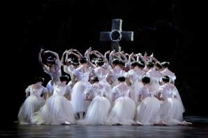 The corps de ballet of Paris Opera Ballet in Giselle. Photo: Sebastien Mathe