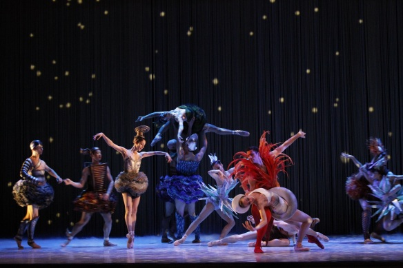 The celestial bodies in Ratmansky's Cinderella. Photo: Jeff Busby