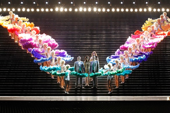 Showgirls usher the gods to Valhalla in Opera Australia's Das Rheingold. Photo: Jeff Busby