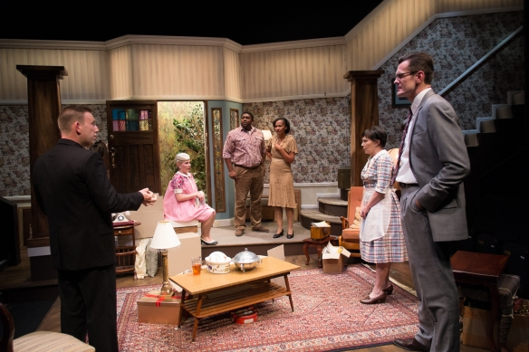 The cast of The Ensemble's Clybourne Park. Photo: Clare Hawley