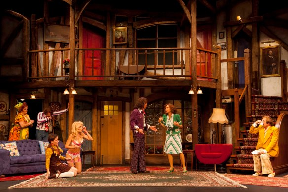 The cast of Noises Off. Photo: Brett Boardman