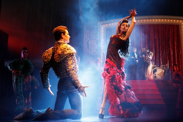 Thomas Lacey and Phoebe Panaretos in Strictly Ballroom the Musical. Photo Jeff Busby