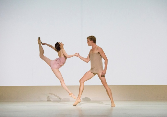 Amber Scott and Adam Bull in Wayne McGregor's Chroma. Photo: Jess Bialek