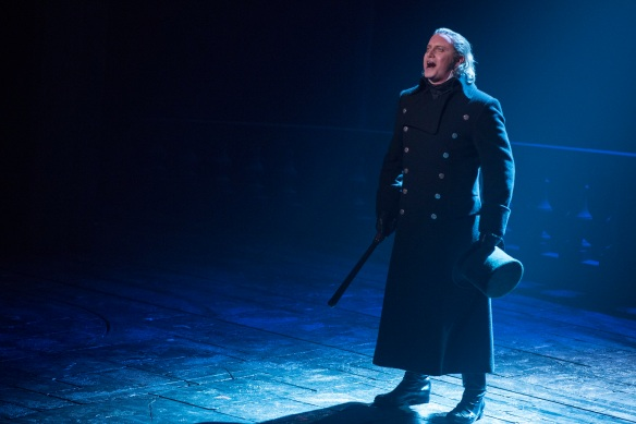 Hayden Tee as Javert in Les Miserables. Photo: Matt Murphy