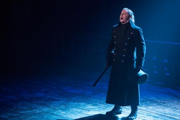 Hayden Tee as Javert in Les Miserables. Photo: Matt Murphy