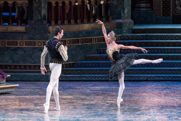 Alexandre Hammoudi and Misty Copeland in Swan Lake, Act III. Photo: Darren Thomas, Photo Co