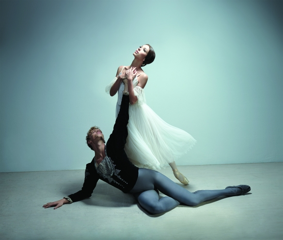 Juliet Burnett and Adam Bull in a promotional image for Giselle. Photo: Georges Antoni