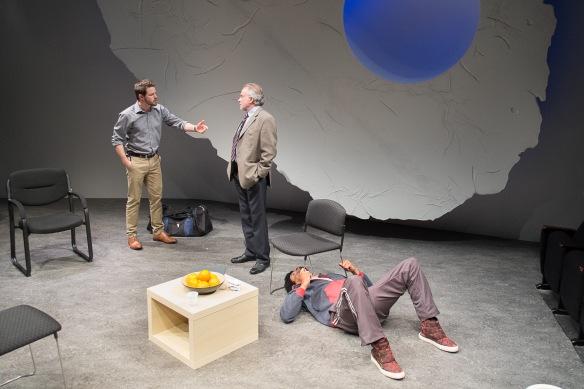 Ian Meadows, Sean Taylor and Dorian Nkono. Photo: Clare Hawley