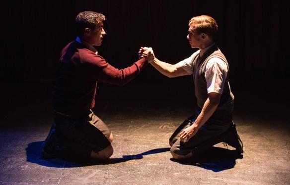 Blake Bowden and Bobby Fox in Blood Brothers. Photo: Kurt Sneddon