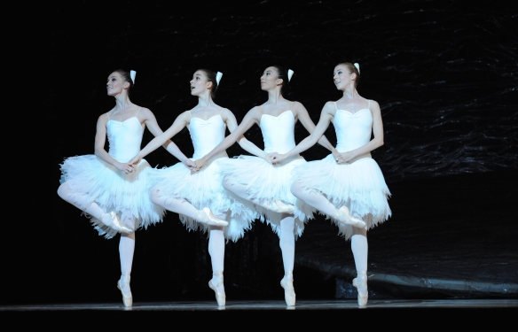 Lockett, Bernet, Nanasca and Martin as the Cygnets. Photo: Branco Gaica