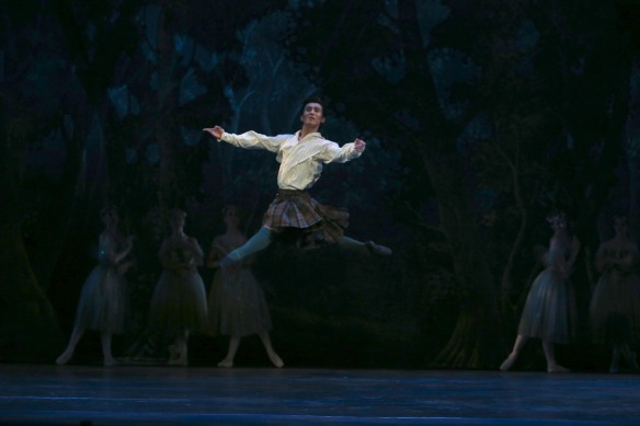 Qi Huan as James in La Sylphide. Photo: David Kelly