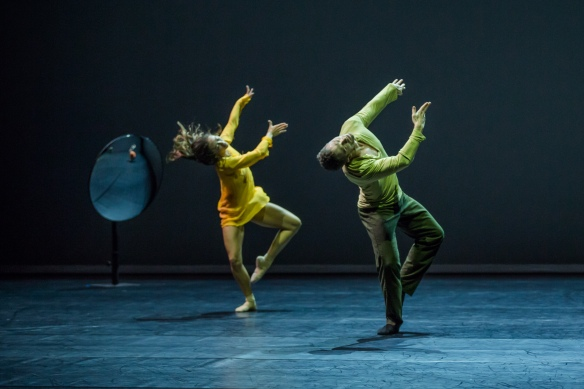 Chloe Leong and David Mack in Quintett. Photo: Peter Greig