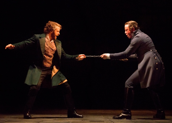 Simon Gleeson and Hayden Tee in Les Miserables. Photo: Matt Murphy