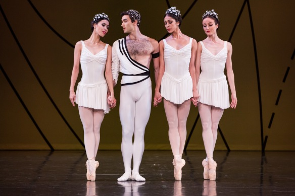 Kondo, Martino, Hendricks and Scott in Symphonic Variations. Photo: Daniel Boud