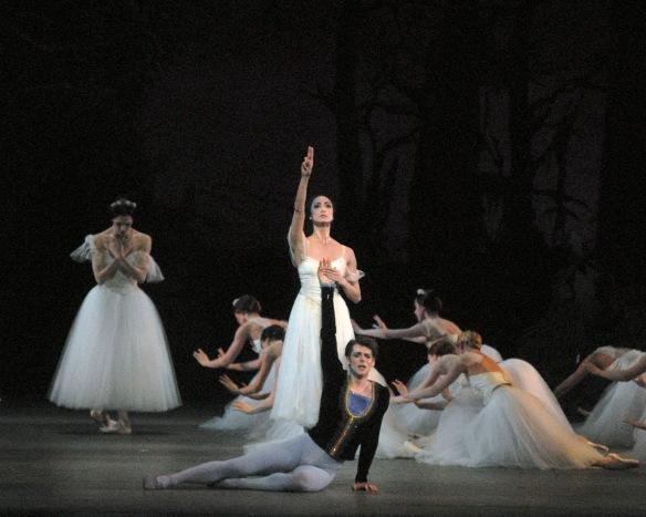 Veronica Part, Stella Abrera and Vladimir Shklyarov in Giselle. Photo: MIRA