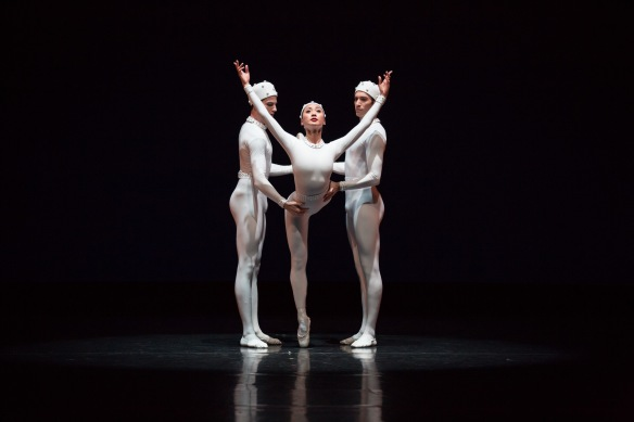 Jared Wright, Natasha Kusen and Brett Simon in Monotones II. Photo: Daniel Boud