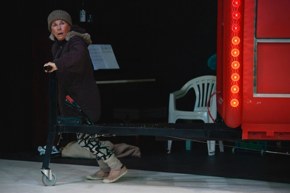 Robyn Nevin in Mother Courage. Photo: Heidrun Lohr
