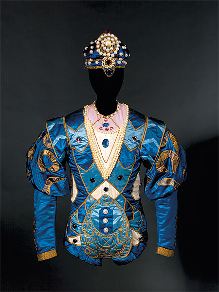 Léon Bakst Costume for the Bluebird c.1921 from the Ballets Russes' production of The Sleeping Princess [La Belle au Bois Dormant] National Gallery of Australia, Canberra Purchased 1980