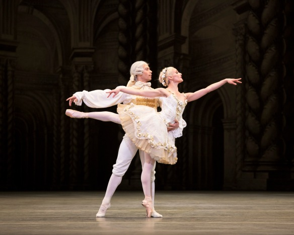 Herman Cornejo and Sarah Lane in Sleeping Beauty. Photo: Gene Schiavone