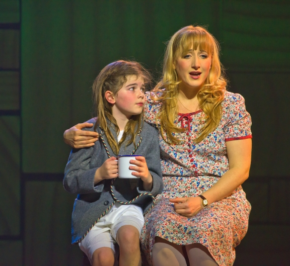 Molly Barwich as Matilda with Elise McCann as Miss Honey. Photo: James Morgan