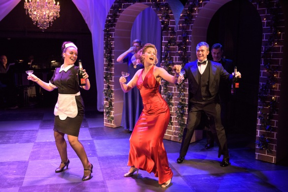 Michelle Barr, Amy Lehpamer and Phillip Lowe in High Society