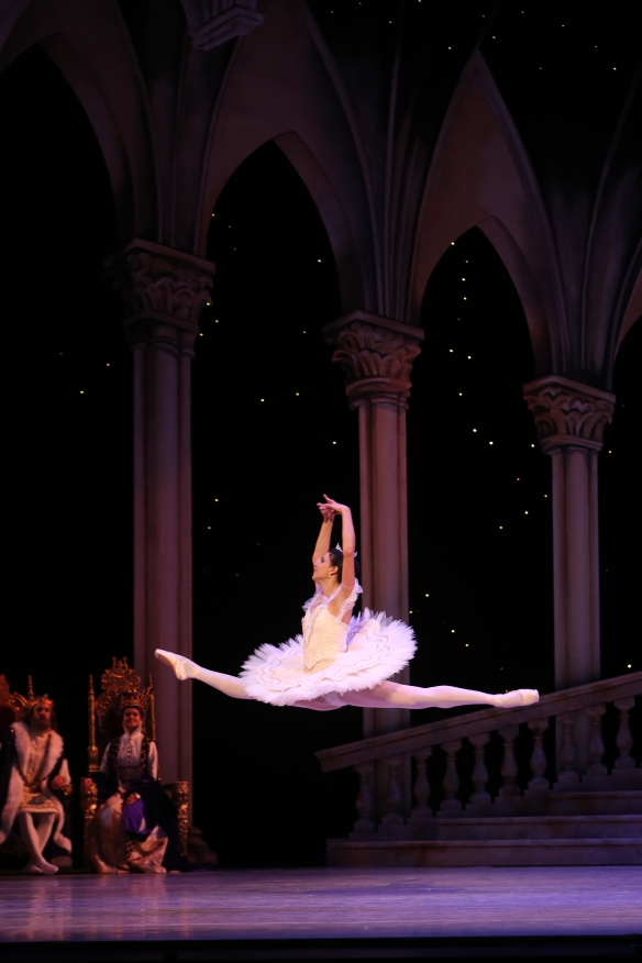 Queensland Ballet principal Yanela Pinera as Aurora. Photo: David Kelly