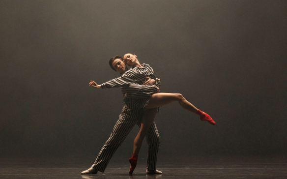 Daniel Gaudiello and Natasha Kusch in In the Upper Room. photo by Jeff Busby