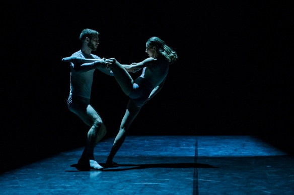 Sydney Dance Company New Breed, Derived. Choreography by Bernhard Knauer. Dancers Cass Mortimer Eipper and Holly Doyle. Photo by Peter Greig