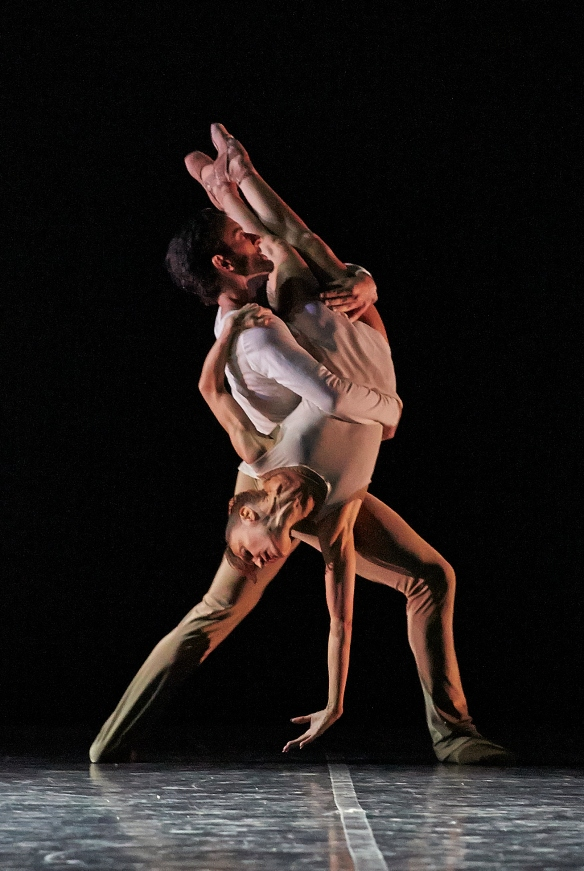 Matthew Lehmann and Sandy Delasalle-Scannella performing On the Nature of Daylight in Five by Night Ballet at the Quarry. Photo Sergey Pevnev