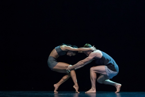 Sydney Dance Company, Lux Tenebris (5). Dancers Charmene Yap and Todd Sutherland