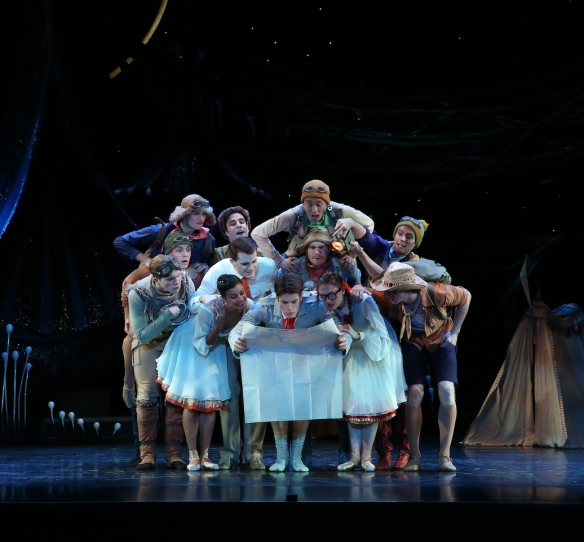 Queensland Ballets Midsummer Nights Dream. The Lovers and Rustics. Photo David Kelly