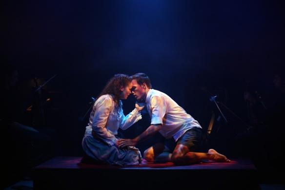 Jessica Rookeward and James Raggatt in Spring Awakening. Photo: Tracey Schramm
