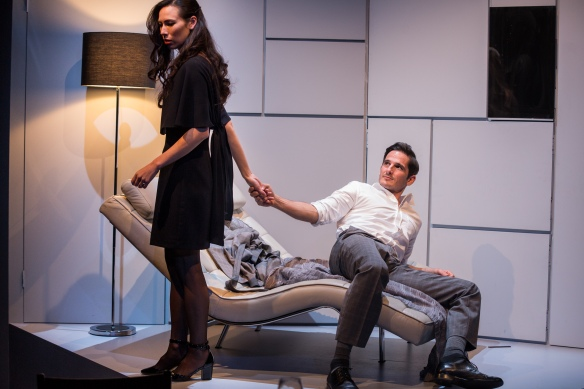 Ursula Mills and Matt Zeremes in Betrayal, photo by Clare Hawley-86